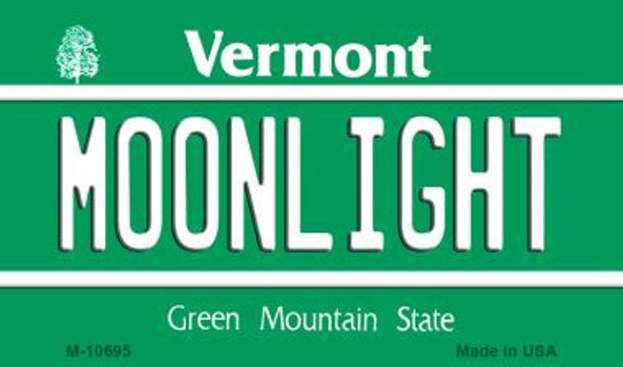 Moonlight Vermont State License Plate Novelty Wholesale Magnet M-10695