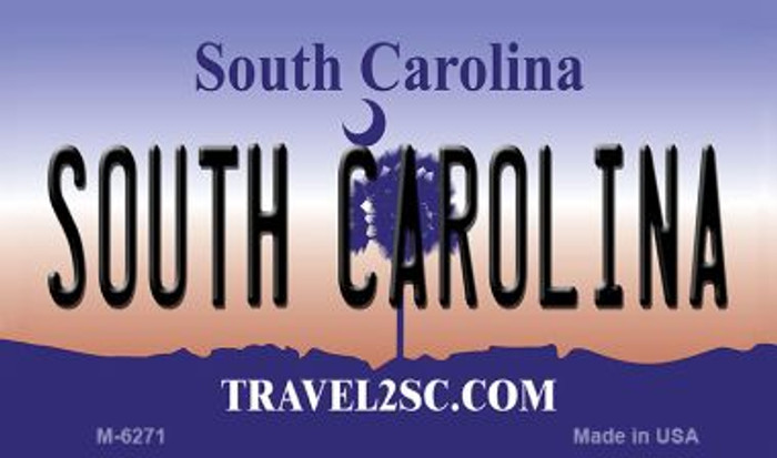 South Carolina State License Plate Wholesale Magnet M-6271