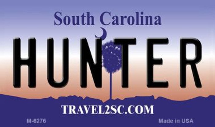 Hunter South Carolina State License Plate Wholesale Magnet M-6276