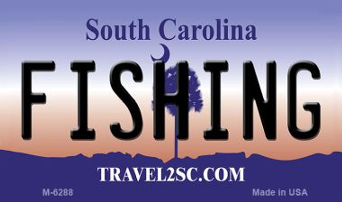 Fishing South Carolina State License Plate Wholesale Magnet M-6288