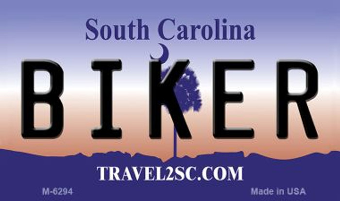 Biker South Carolina State License Plate Wholesale Magnet M-6294