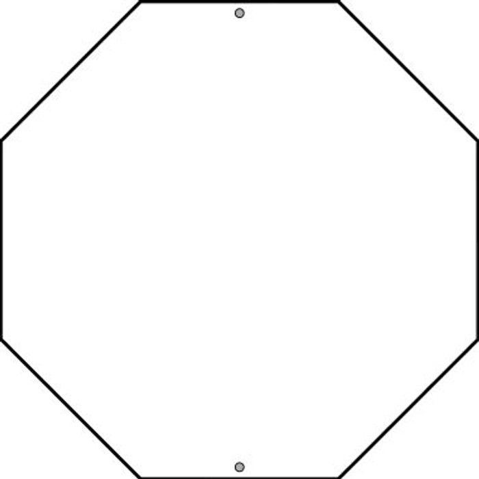 """White Dye Sublimation 12"""" Wholesale Novelty Octagon Metal Stop Sign BS-000"""