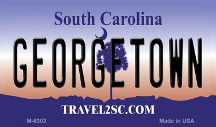 Georgetown South Carolina State License Plate Wholesale Magnet M-6302