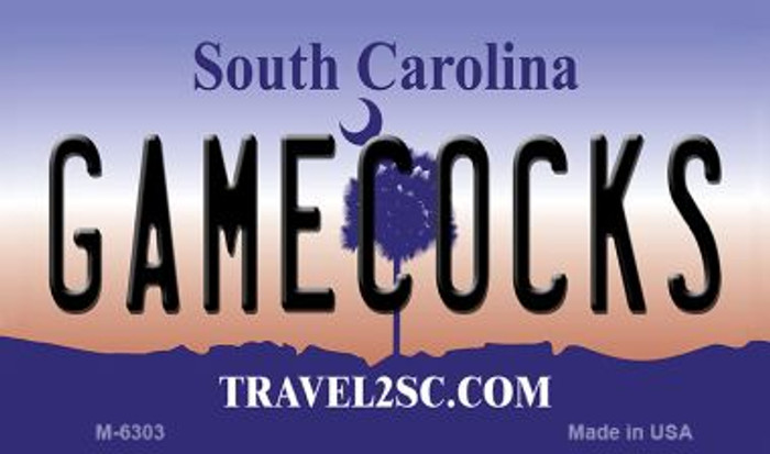Gamecocks South Carolina State License Plate Wholesale Magnet M-6303