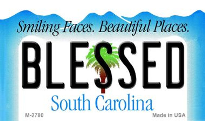 Blessed South Carolina State License Plate Wholesale Magnet M-2780