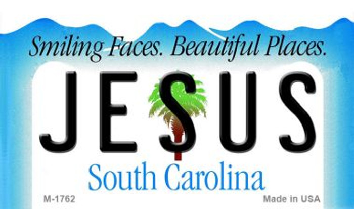Jesus South Carolina State License Plate Wholesale Magnet M-1762