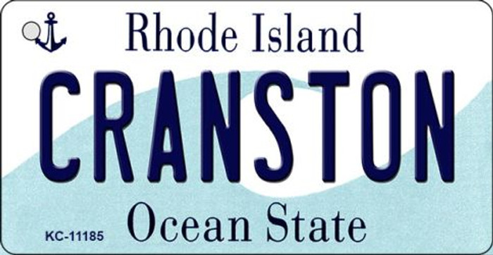 Cranston Rhode Island License Plate Novelty Wholesale Key Chain KC-11185