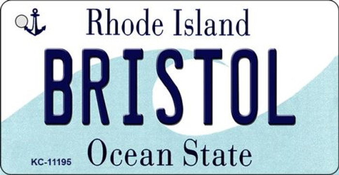 Bristol Rhode Island License Plate Novelty Wholesale Key Chain KC-11195