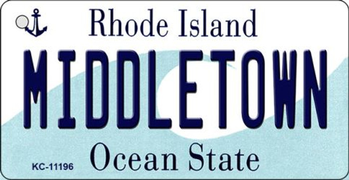 Middletown Rhode Island License Plate Novelty Wholesale Key Chain KC-11196