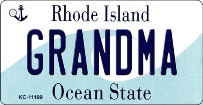 Grandma Rhode Island License Plate Novelty Wholesale Key Chain KC-11199