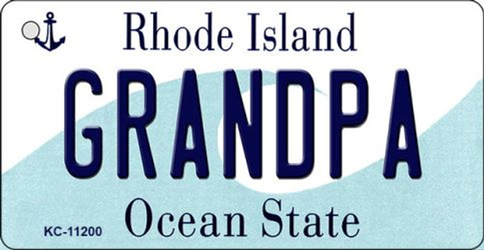 Grandpa Rhode Island License Plate Novelty Wholesale Key Chain KC-11200
