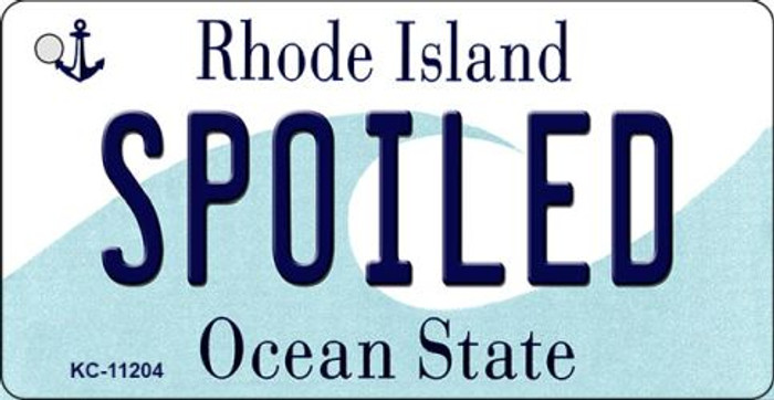 Spoiled Rhode Island License Plate Novelty Wholesale Key Chain KC-11204