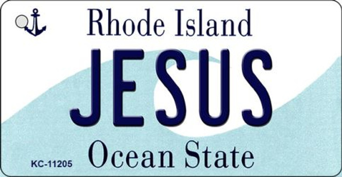 Jesus Rhode Island License Plate Novelty Wholesale Key Chain KC-11205
