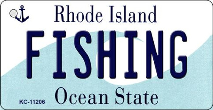 Fishing Rhode Island License Plate Novelty Wholesale Key Chain KC-11206