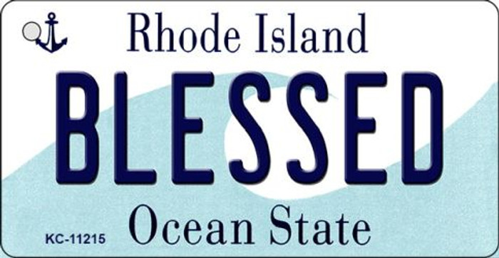 Blessed Rhode Island License Plate Novelty Wholesale Key Chain KC-11215