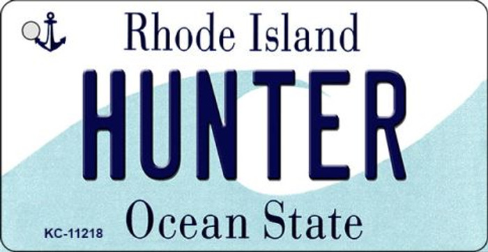 Hunter Rhode Island License Plate Novelty Wholesale Key Chain KC-11218