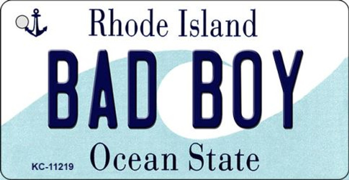 Bad Boy Rhode Island License Plate Novelty Wholesale Key Chain KC-11219