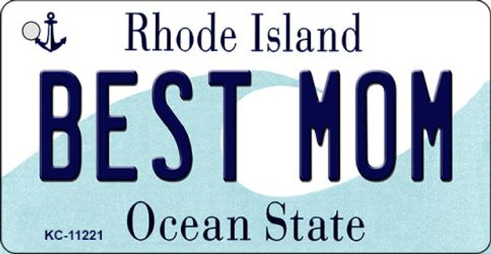 Best Mom Rhode Island License Plate Novelty Wholesale Key Chain KC-11221