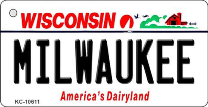 Milwaukee Wisconsin License Plate Novelty Wholesale Key Chain KC-10611