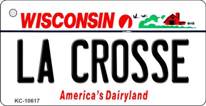 La Crosse Wisconsin License Plate Novelty Wholesale Key Chain KC-10617