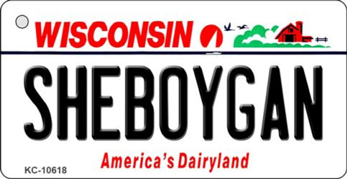 Sheboygan Wisconsin License Plate Novelty Wholesale Key Chain KC-10618