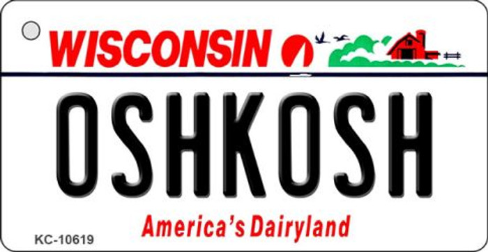 Oshkosh Wisconsin License Plate Novelty Wholesale Key Chain KC-10619