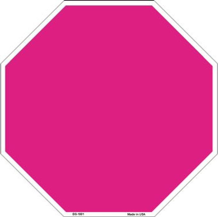 Pink Dye Sublimation Wholesale Octagon Metal Novelty Stop Sign BS-1001