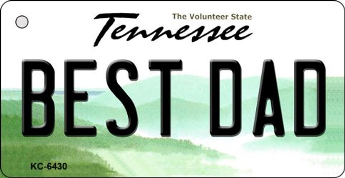 Best Dad Tennessee License Plate Wholesale Key Chain KC-6430