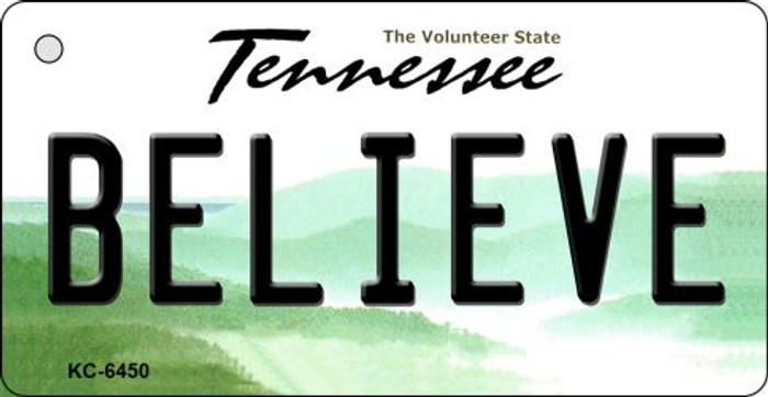 Believe Tennessee License Plate Wholesale Key Chain KC-6450