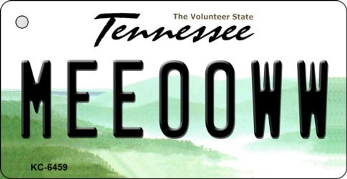 Meeooww Tennessee License Plate Wholesale Key Chain KC-6459