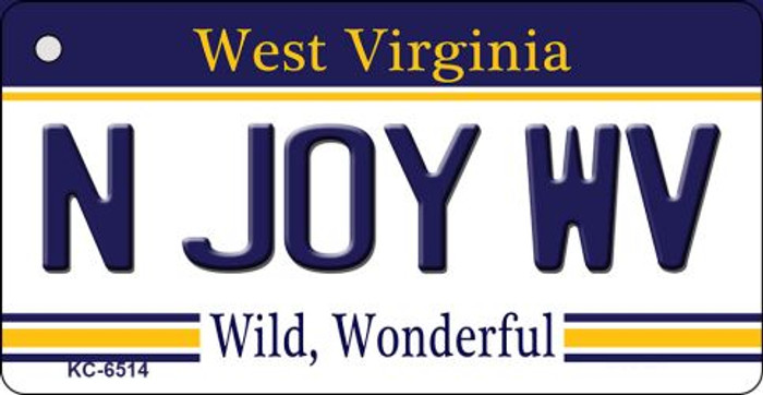 N Joy WV West Virginia License Plate Wholesale Key Chain