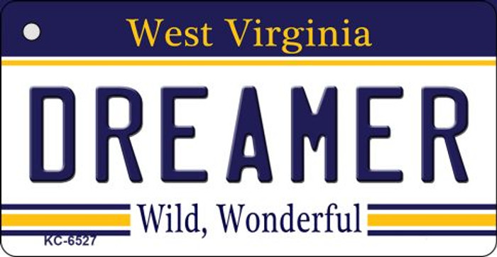 Dreamer West Virginia License Plate Wholesale Key Chain