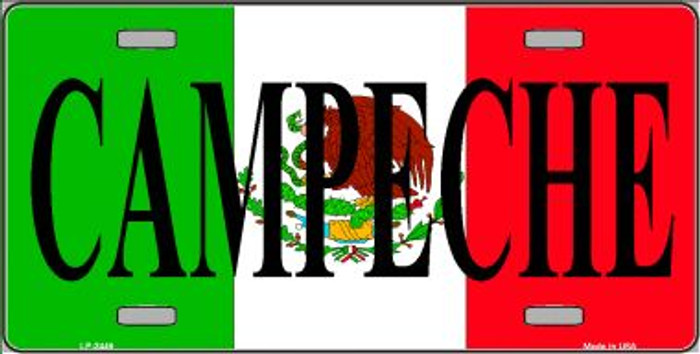 Campeche Mexico Wholesale Metal Novelty License Plate LP-3449