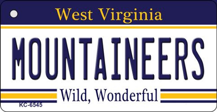 Mountaineers West Virginia License Plate Wholesale Key Chain