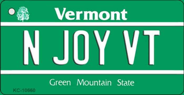 N Joy VT Vermont License Plate Novelty Wholesale Key Chain