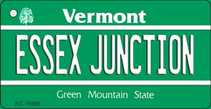 Essex Junction Vermont License Plate Novelty Wholesale Key Chain