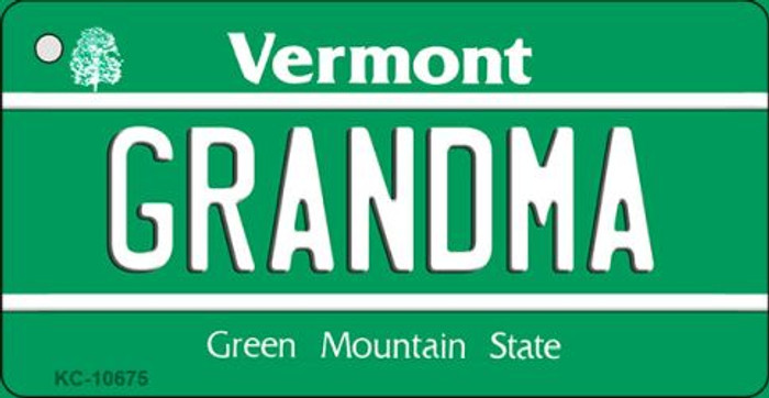 Grandma Vermont License Plate Novelty Wholesale Key Chain