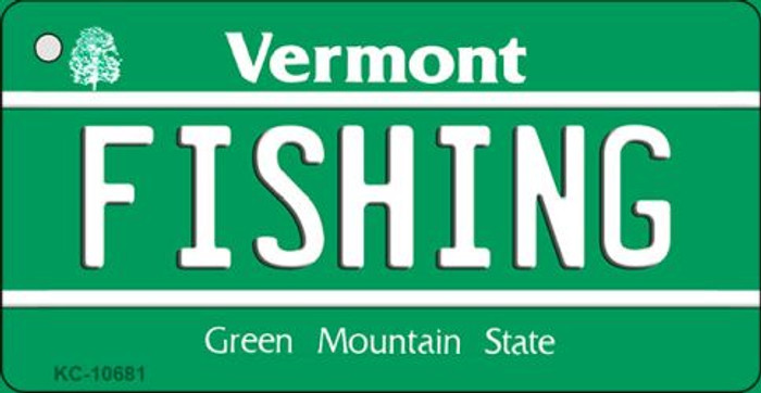 Fishing Vermont License Plate Novelty Wholesale Key Chain