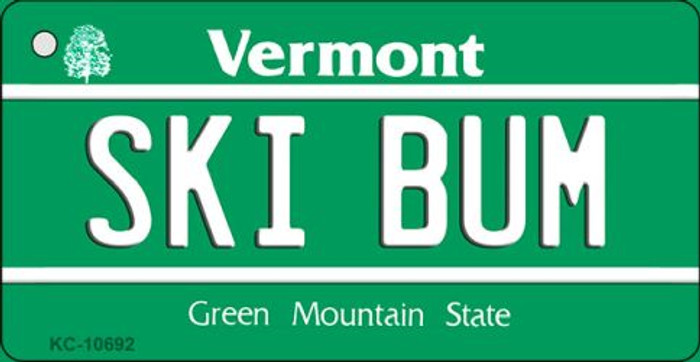 Ski Bum Vermont License Plate Novelty Wholesale Key Chain
