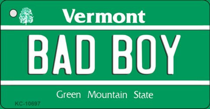 Bad Boy Vermont License Plate Novelty Wholesale Key Chain