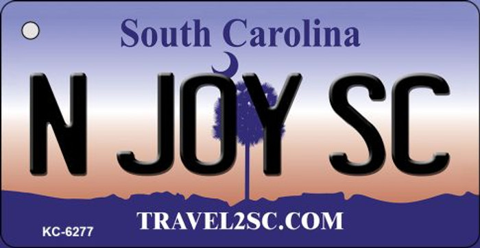 N Joy SC South Carolina License Plate Wholesale Key Chain