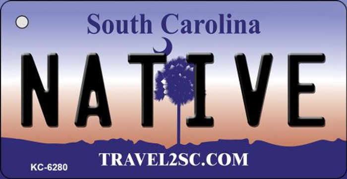 Native South Carolina License Plate Wholesale Key Chain