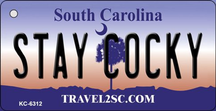 Stay Cocky South Carolina License Plate Wholesale Key Chain KC-6312