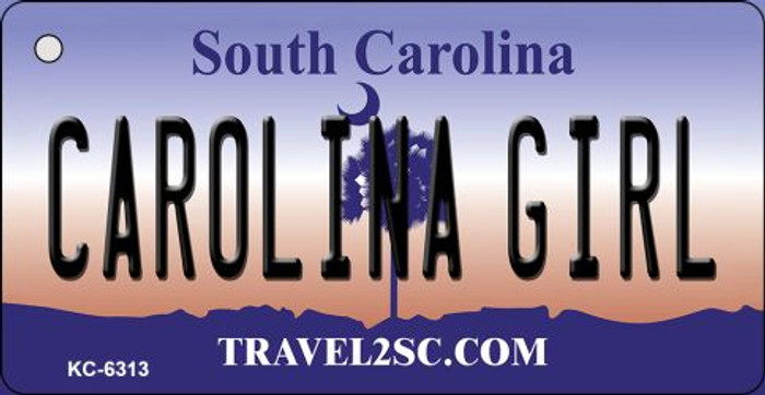 Carolina Girl South Carolina License Plate Wholesale Key Chain KC-6313