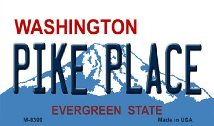 Pike Place Washington State License Plate Wholesale Magnet M-8399