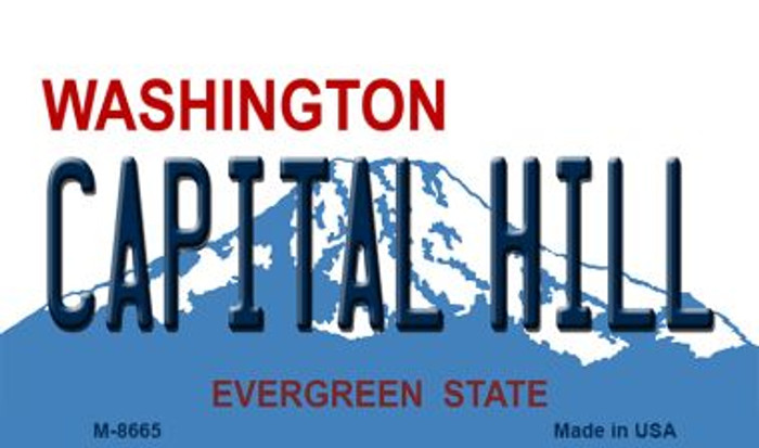 Capital Hill Washington State License Plate Wholesale Magnet M-8665