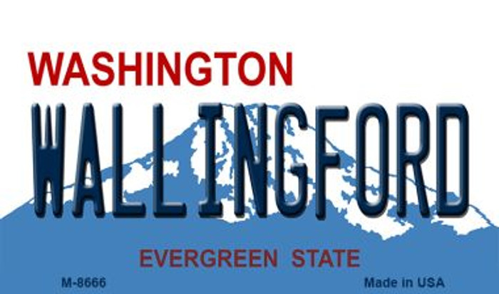 Wallingford Washington State License Plate Wholesale Magnet M-8666