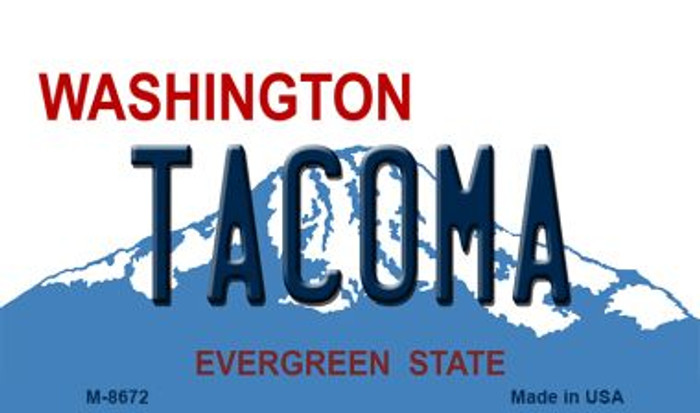 Tacoma Washington State License Plate Wholesale Magnet M-8672