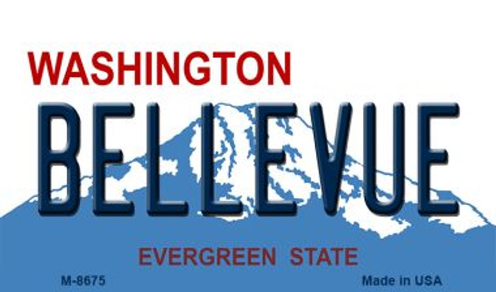 Bellevue Washington State License Plate Wholesale Magnet M-8675