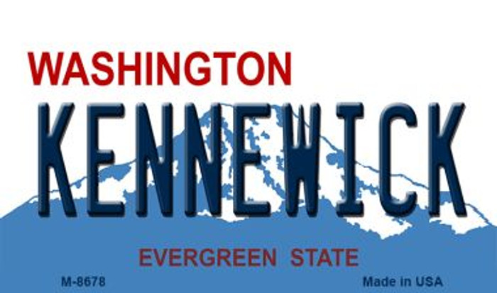 Kennewick Washington State License Plate Wholesale Magnet M-8678